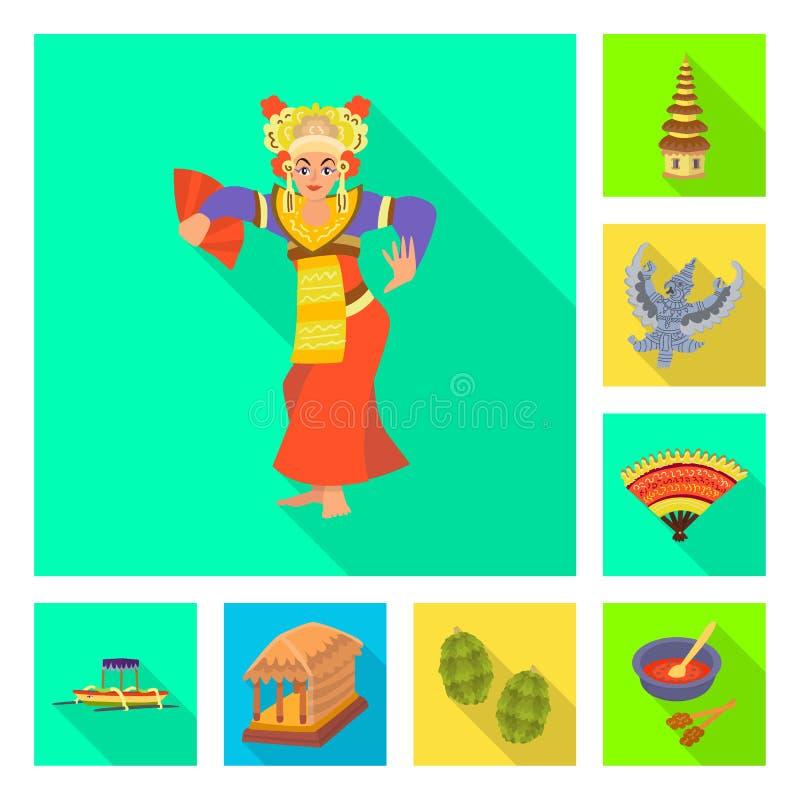 Ge?soleerd voorwerp van reis en toerismesymbool Inzameling van reis en het symbool van de eilandvoorraad voor Web vector illustratie