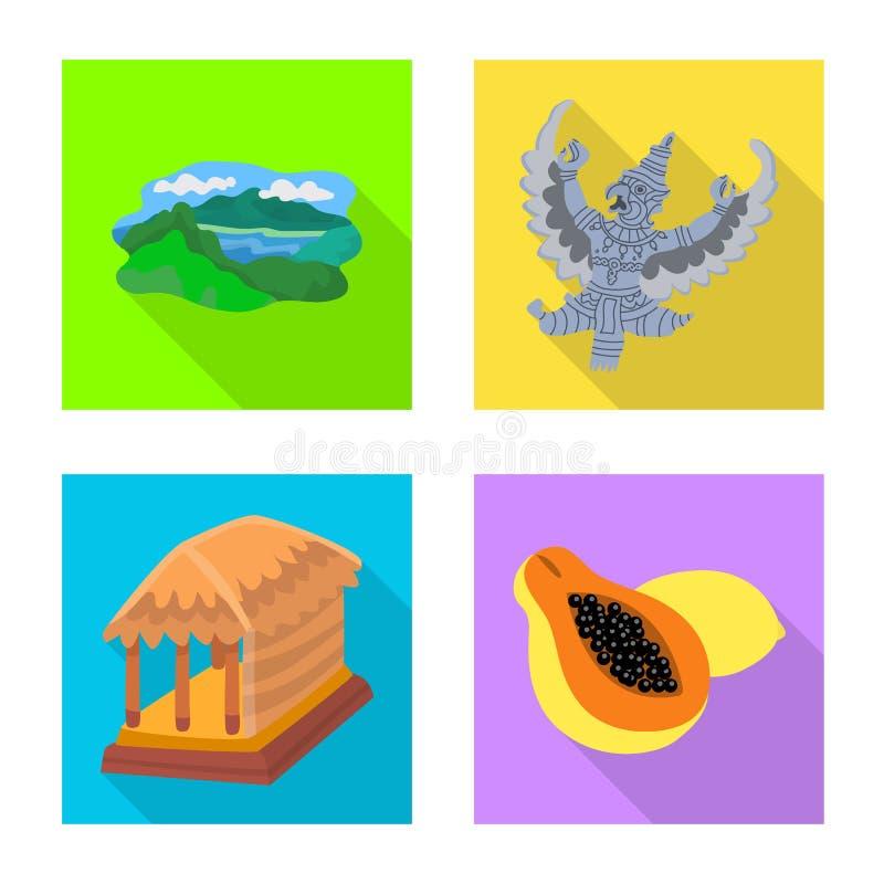 Ge?soleerd voorwerp van reis en toerismeteken Inzameling van reis en het symbool van de eilandvoorraad voor Web royalty-vrije illustratie