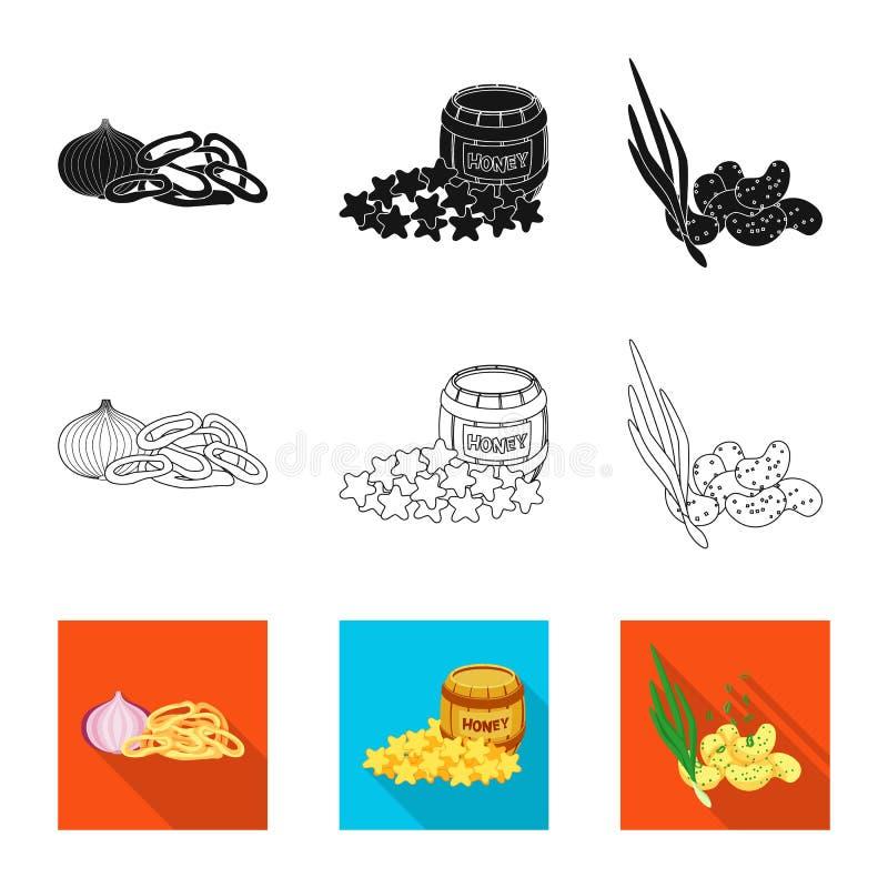 Ge?soleerd voorwerp van smaak en seasonin pictogram Reeks van smaak en organisch voorraadsymbool voor Web vector illustratie