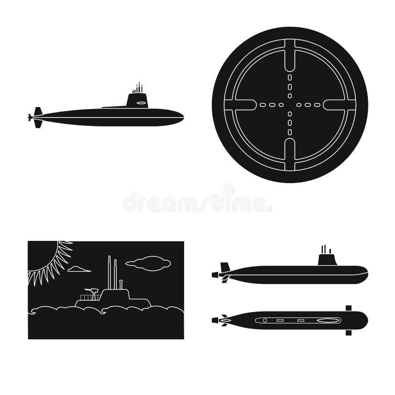 Ge?soleerd voorwerp van technologie en vlootpictogram Reeks van technologie en de vectorillustratie van de marinevoorraad vector illustratie