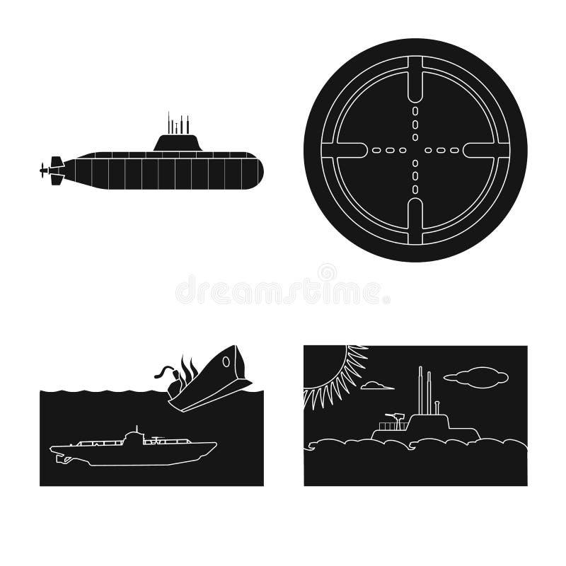 Ge?soleerd voorwerp van technologie en vlootteken Reeks van technologie en de vectorillustratie van de marinevoorraad vector illustratie