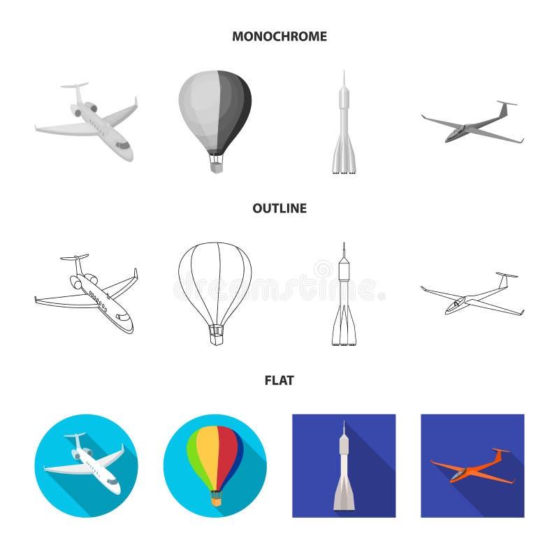 Ge?soleerd voorwerp van vervoer en objecten embleem Inzameling van vervoer en glijdend vectorpictogram voor voorraad royalty-vrije illustratie