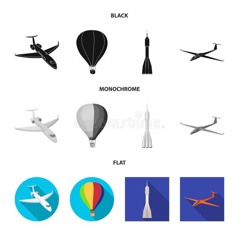 Ge?soleerd voorwerp van vervoer en objecten embleem Inzameling van vervoer en glijdende voorraad vectorillustratie royalty-vrije illustratie