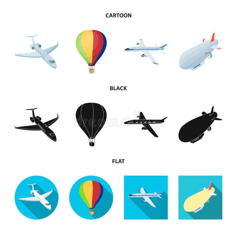 Ge?soleerd voorwerp van vervoer en objecten symbool Inzameling van vervoer en glijdend vectorpictogram voor voorraad vector illustratie