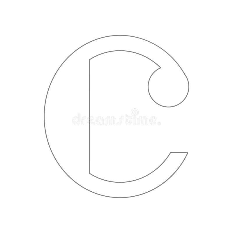 Ge?soleerde muzieknoot, Gemeenschappelijk tijdpictogram Element van Web voor mobiel concept en webtoepassingenpictogram Overzicht royalty-vrije illustratie