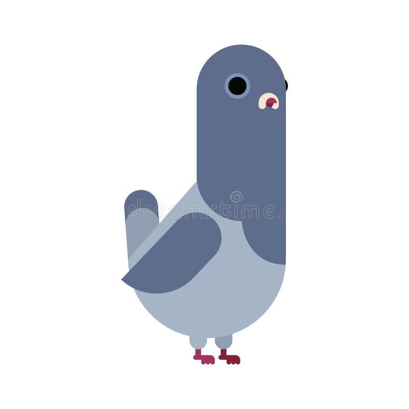 Ge?soleerdeo duif E r stock illustratie