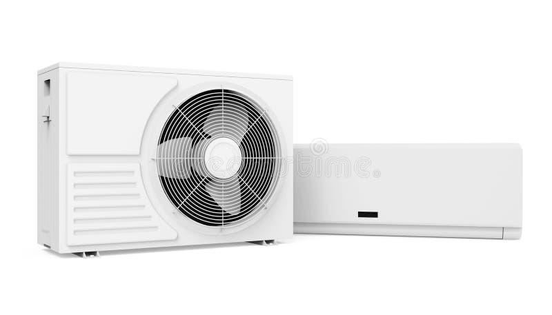 Ge?soleerder airconditioner royalty-vrije illustratie