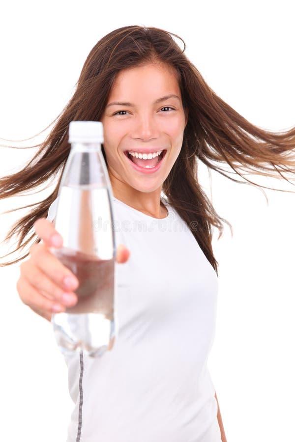 ge sportvattenkvinnan royaltyfria foton