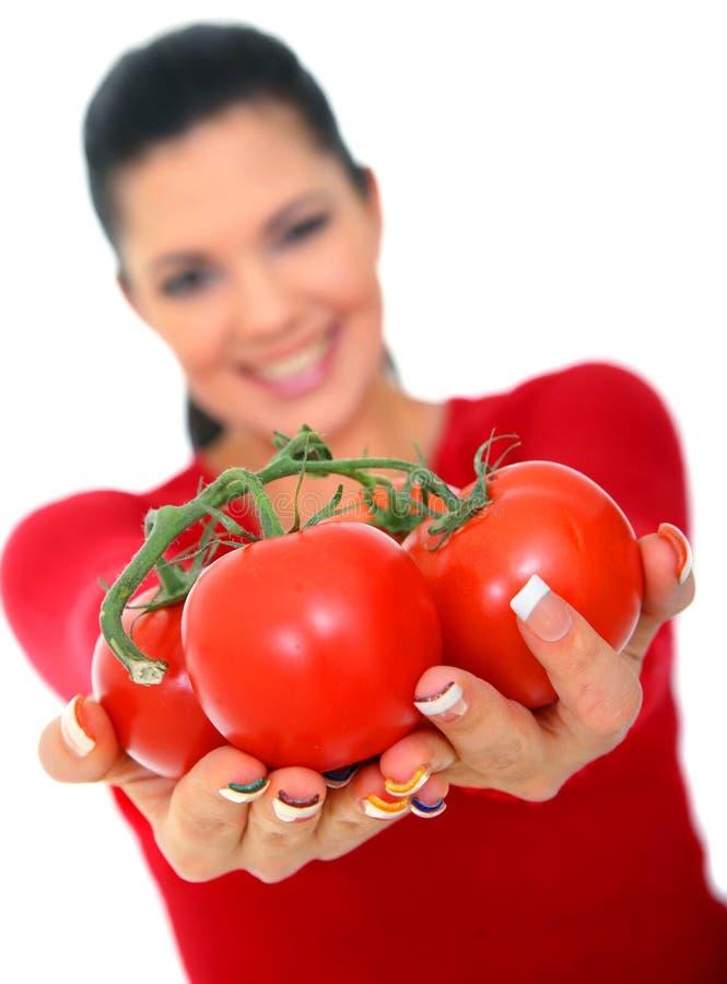 ge tomater royaltyfri fotografi