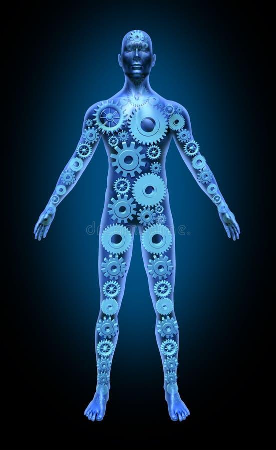 Gea médico del icono del símbolo de la salud de la función del cuerpo humano stock de ilustración
