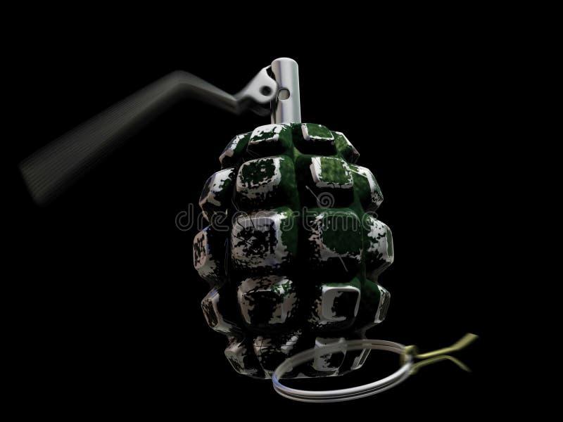 Geactiveerde 3d granaat vector illustratie