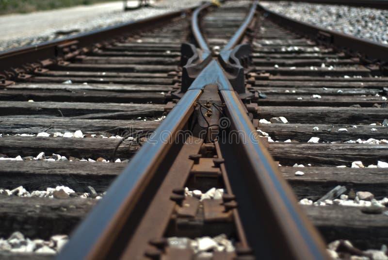 Gealterte Bahngleise lizenzfreies stockfoto