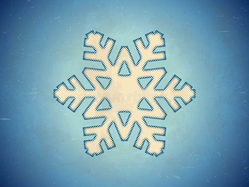 Gealterte Karte mit Schneeflocke lizenzfreie abbildung