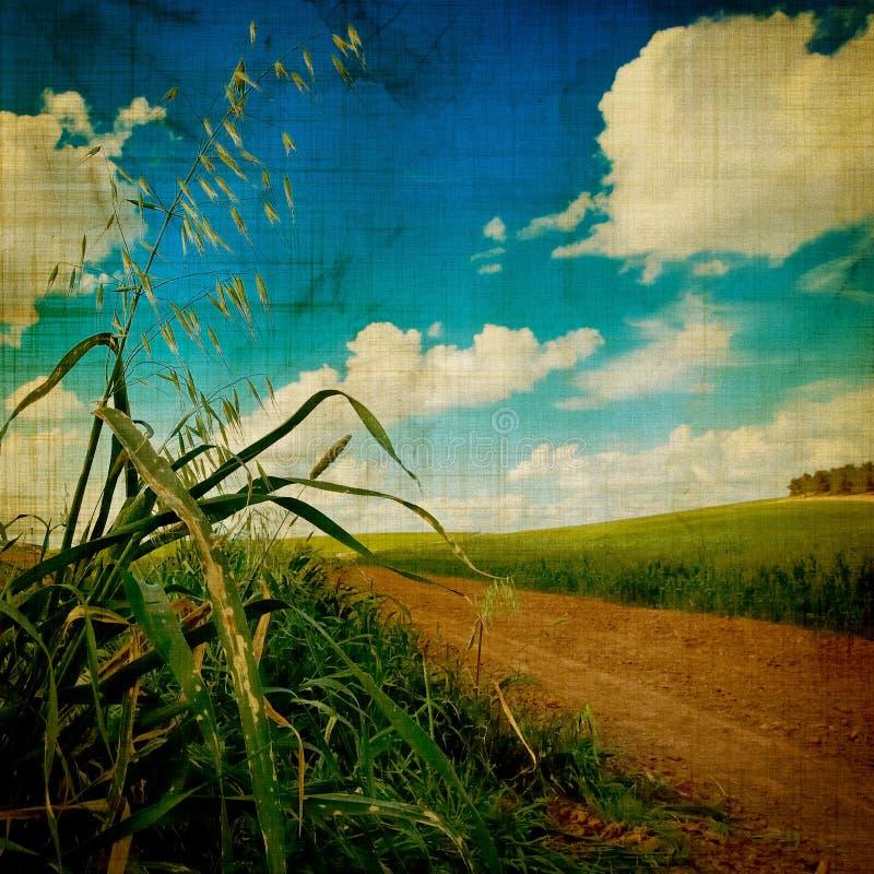 Gealterte Landschaft stockbild