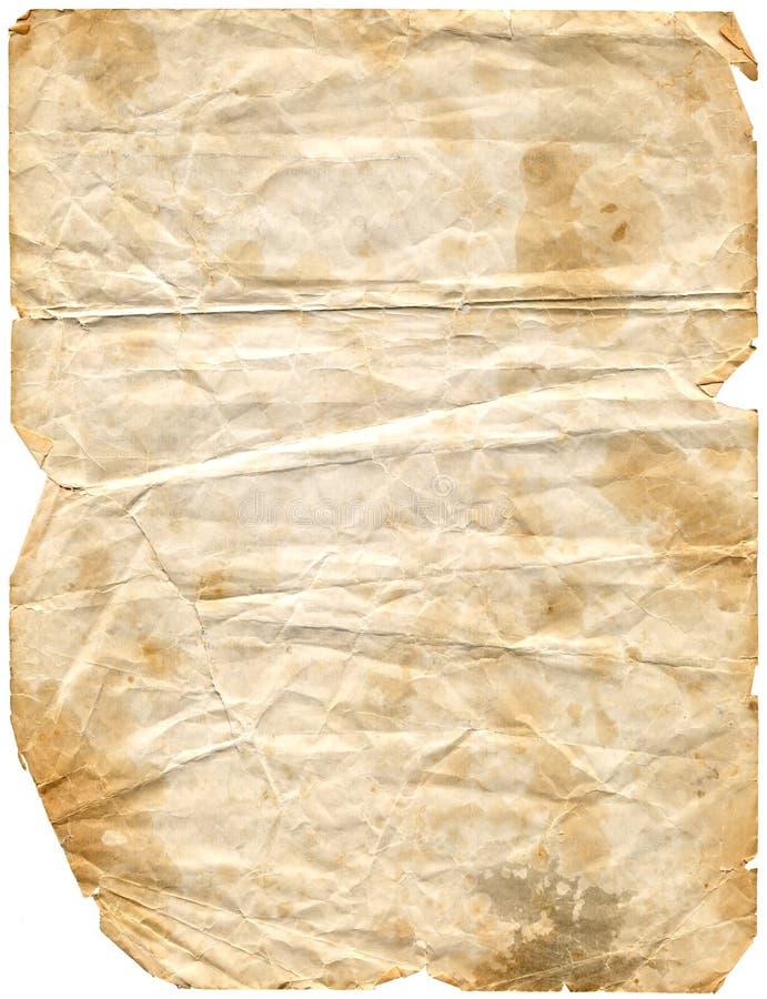 Gealterte Papier2 (Pfad eingeschlossen) lizenzfreie stockfotografie