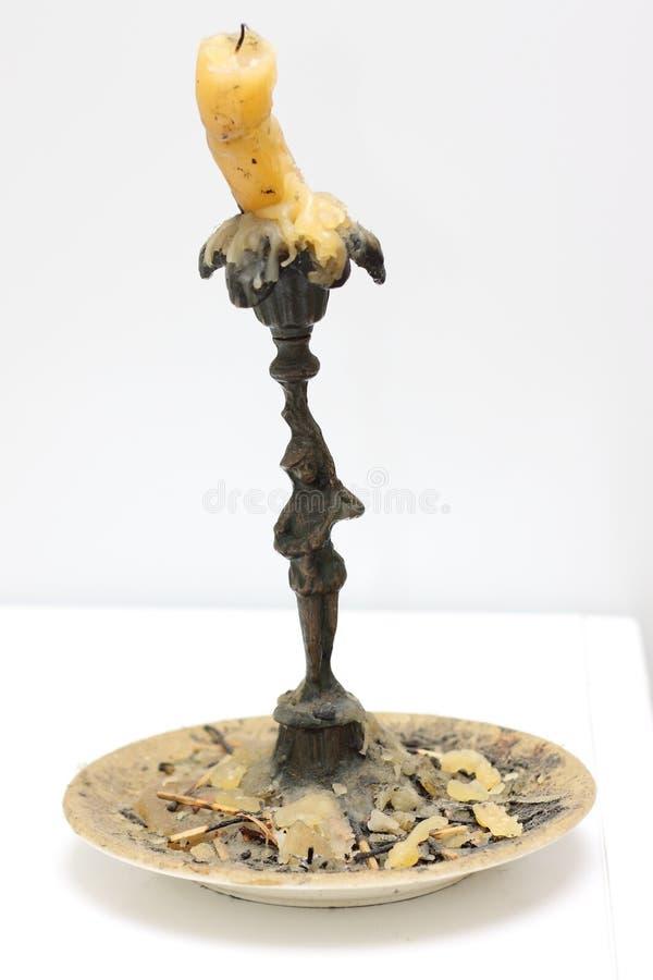 Gealterter Kerzenhalter stockbilder