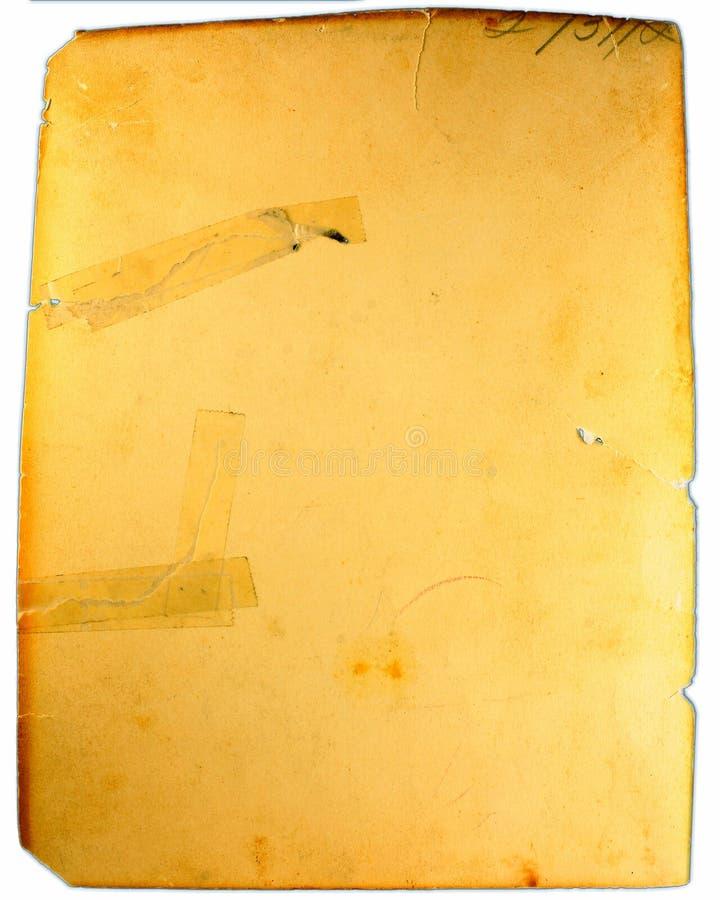 Gealtertes antikes Papier mit Band stockfotografie