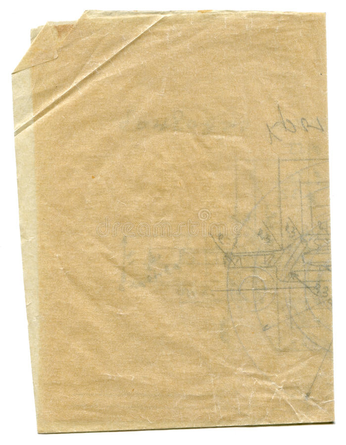Gealtertes gunge Pergamentpapier lizenzfreies stockfoto