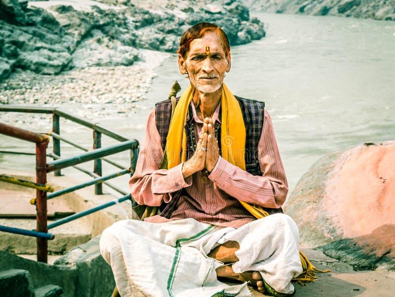 Gealtertes indisches sadhu stockbild