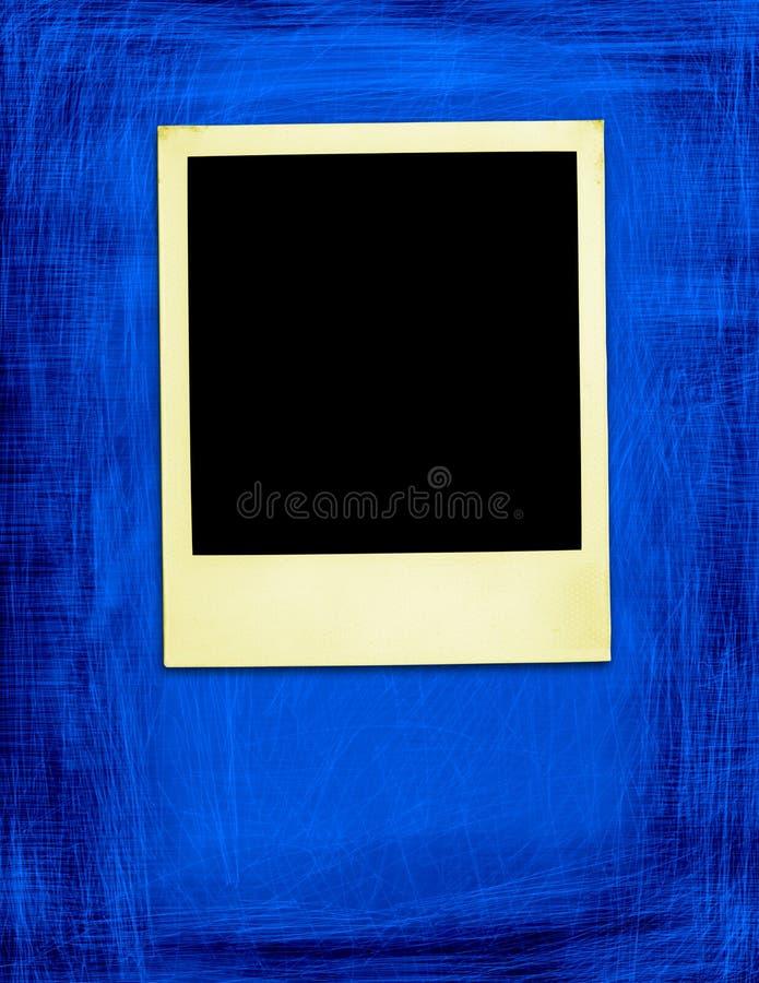 Gealtertes Polaroid auf Grunge Hintergrund stock abbildung