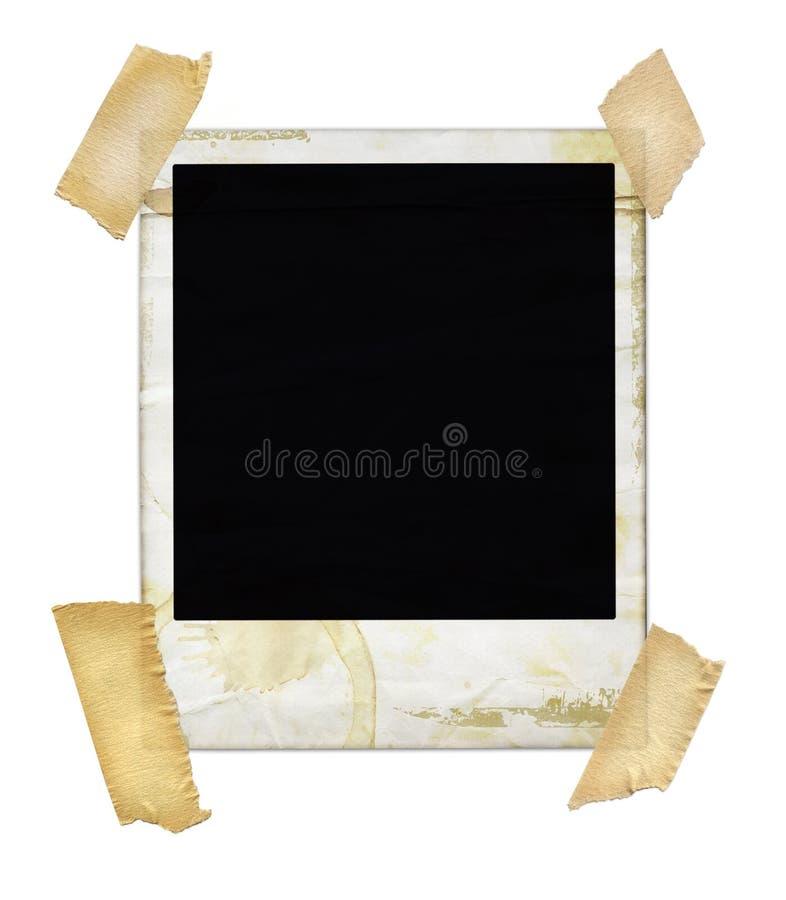 Gealtertes Polaroid mit Band lizenzfreies stockbild