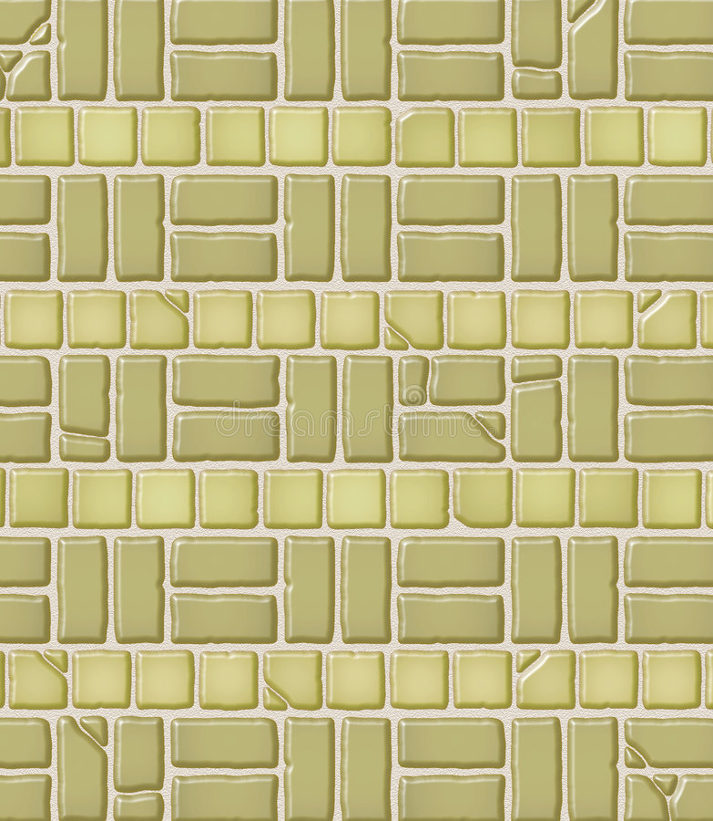 Gealtertes Ziegelstein-u. Fliese-Muster lizenzfreie abbildung