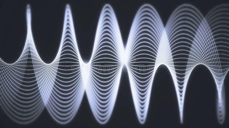 Geanimeerde achtergrond van lijnen en vormen Schommelingen van stegen in motie vector illustratie