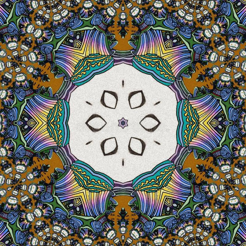 Geanimeerde gezichten in een cirkelvorm Spel van Kleuren de samenvatting trekt vector illustratie
