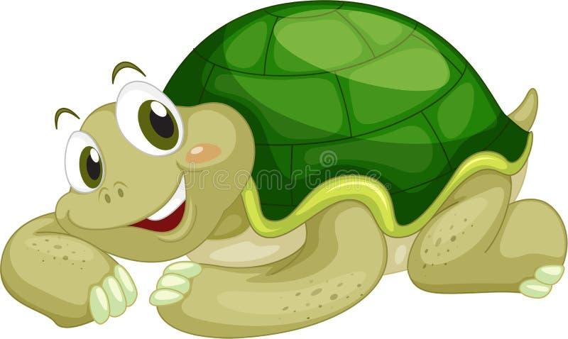 Geanimeerde schildpad stock illustratie