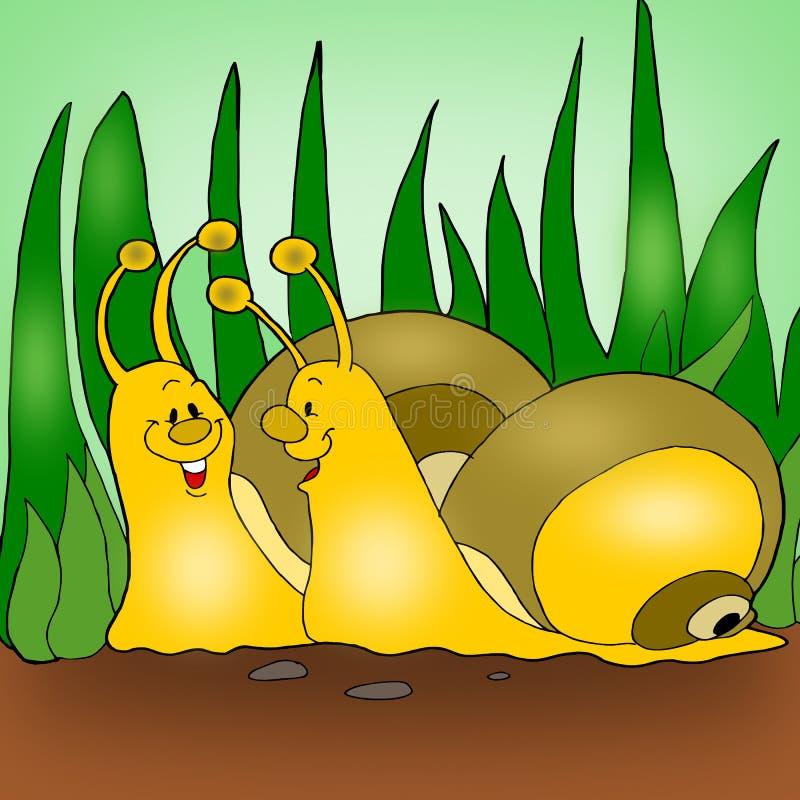 Geanimeerde slakken vector illustratie