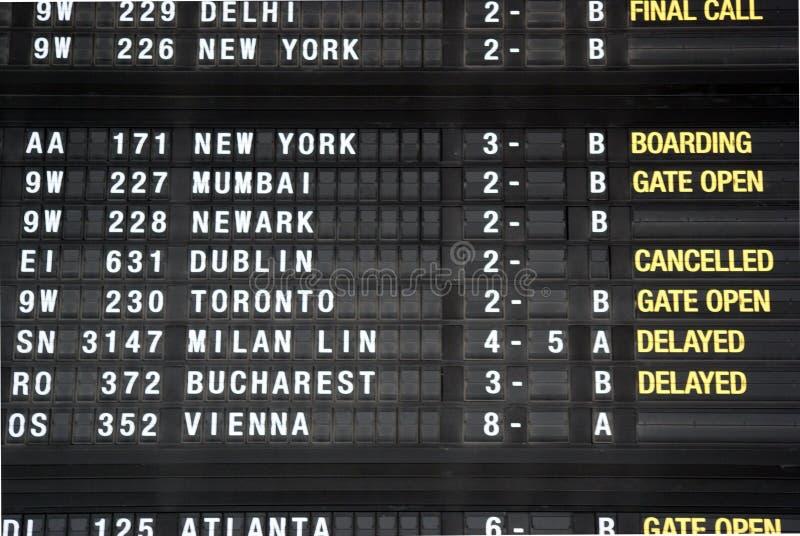 Geannuleerde vlucht van Brussel tot Dublin royalty-vrije stock fotografie