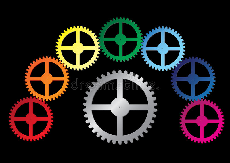 Download Gear stock vector. Image of engine, gear, abstract, color - 13090118