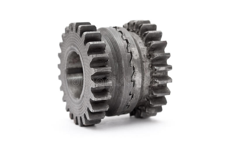 Gear. Isolated on white background royalty free stock photo