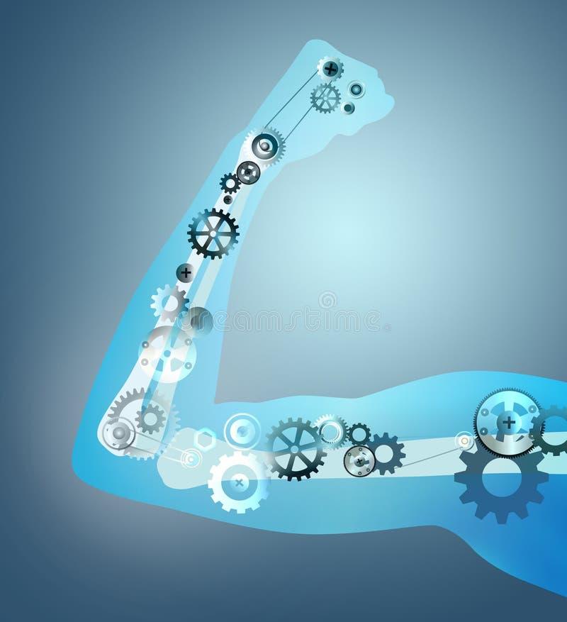 Gear arm bone anatomy royalty free illustration