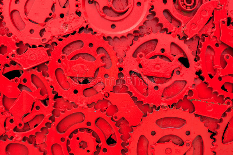 Gear background. The red paint gear background royalty free stock images