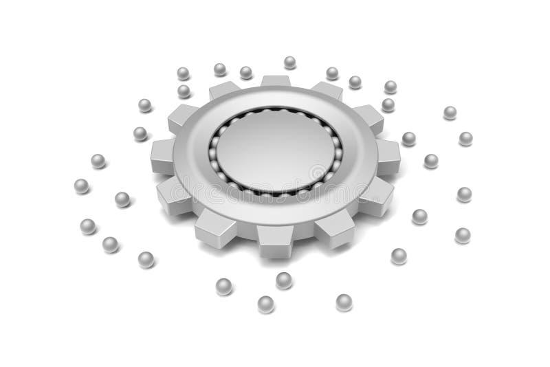 Gear And Ball Bearing Stock Image