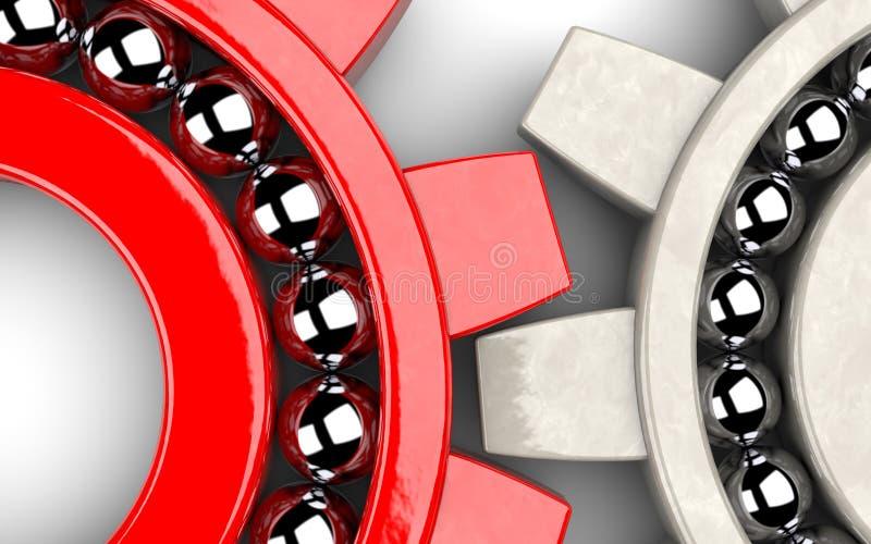 Gear bearings illustrating team work royalty free stock photography