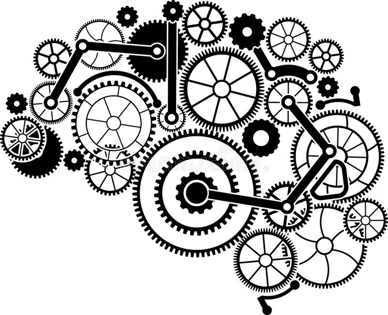 gear brain stock vector  illustration of device  human