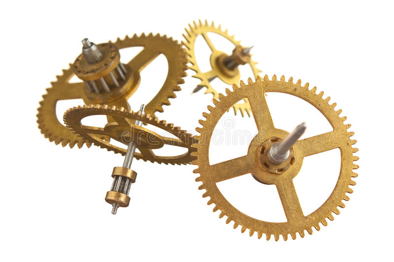 Gear of the clock stock image
