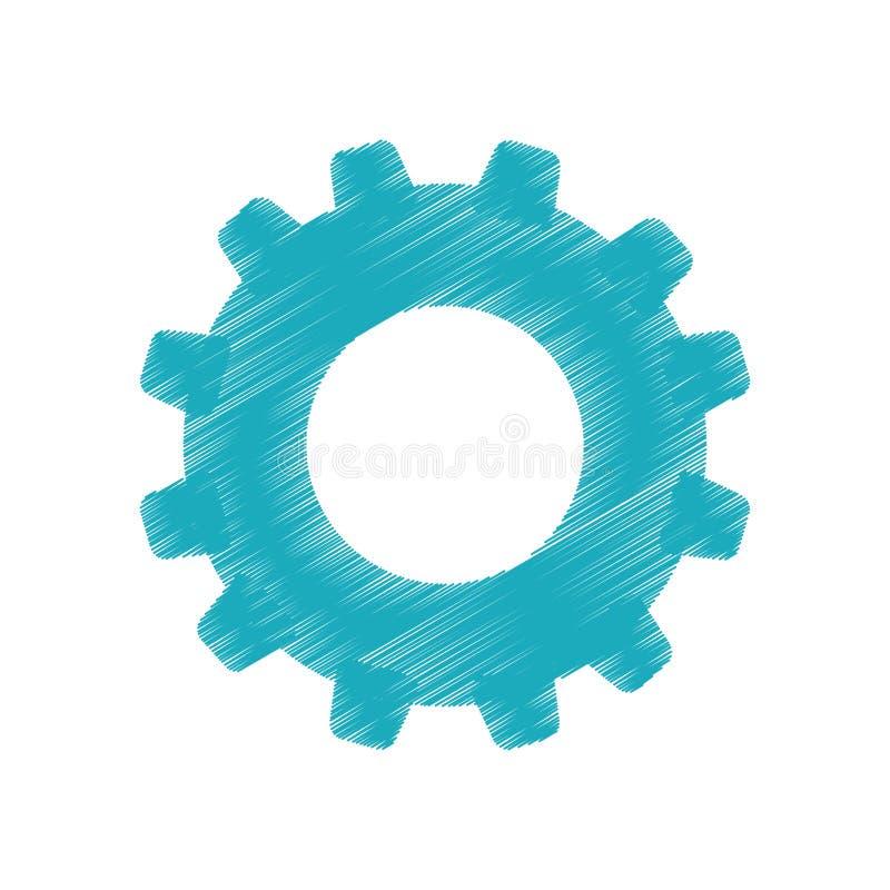 Gear cog wheel. Icon vector illustration graphic design royalty free illustration