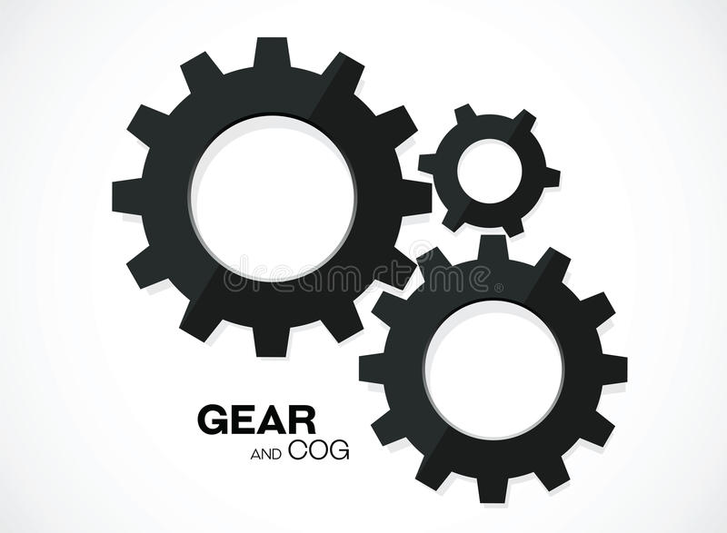 Gear cogs royalty free illustration