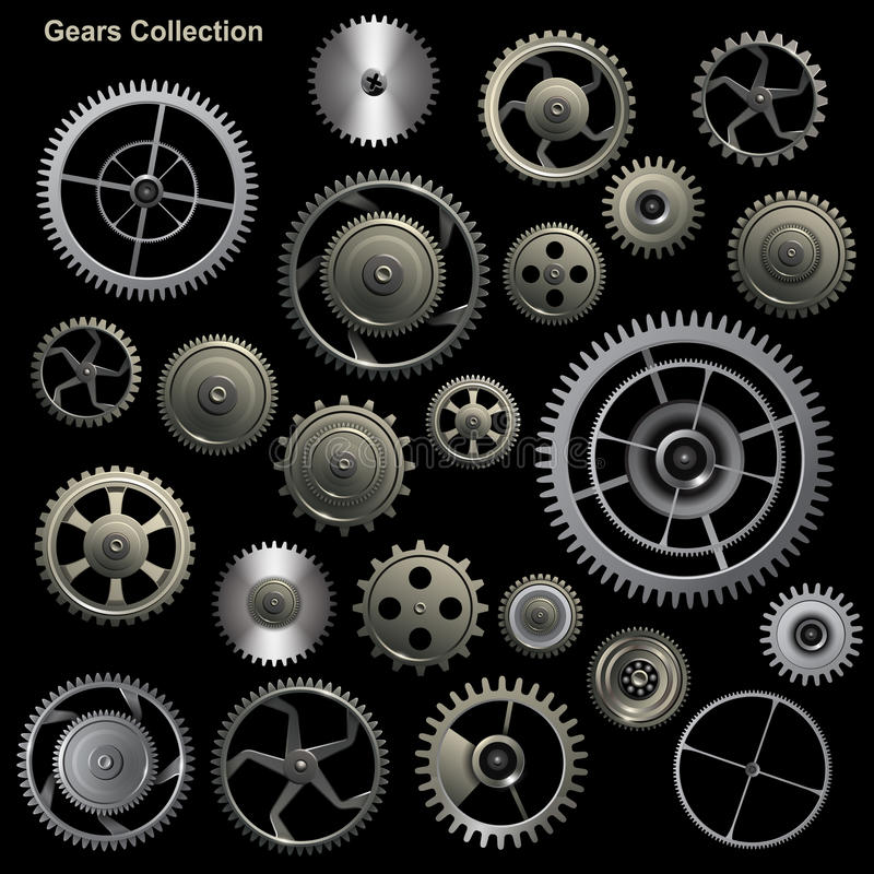 Download Gear collection stock vector. Illustration of gear, factory - 31932563