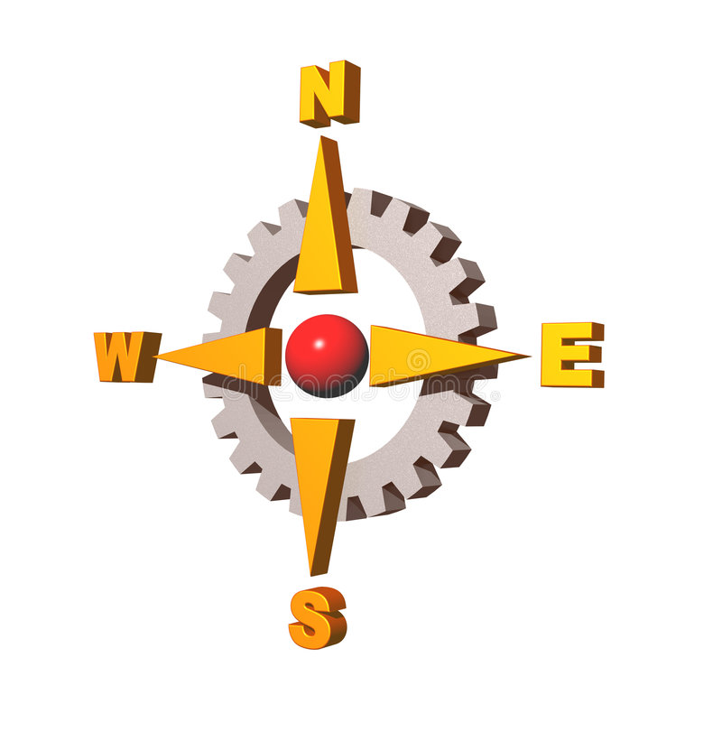 Gear compass stock illustration
