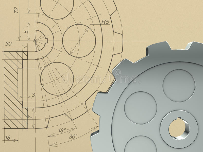 Download Gear concept stock illustration. Image of linear, circle - 17965376