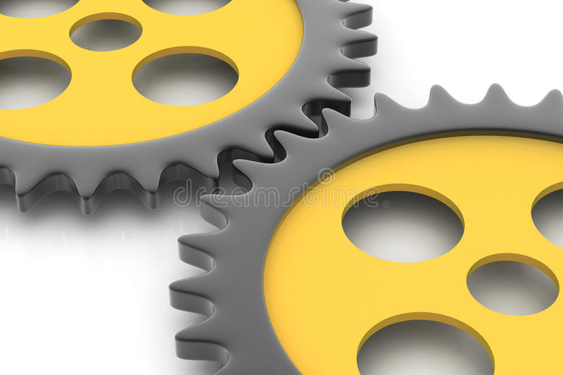 Gear Connecting Concept Royalty Free Stock Images