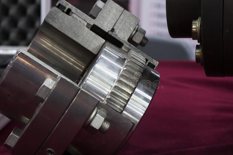Gear coupling for motor transmission royalty free stock images