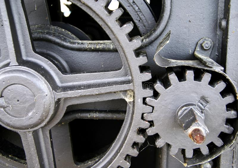 Gear with different sized gears stock photos