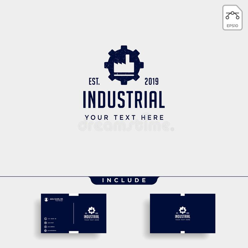 gear factory logo design industrial vector icon element isolated royalty free illustration