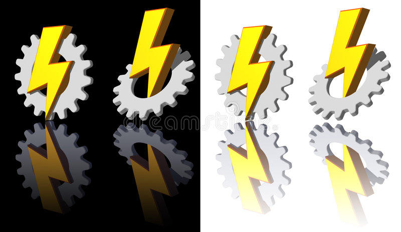 Download Gear - flash stock illustration. Image of icon, machines - 5546422