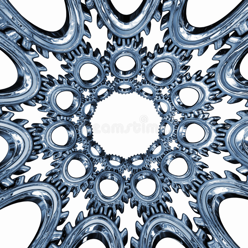 Gear and gears. This is intended to be a CD or DVD print graphics but it can be use as other background picture or design part royalty free illustration